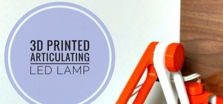 Este curioso flexo LED está fabricado con una impresora 3D
