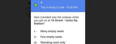 Google Maps quiere saber cómo de lleno estaba el vagón del metro en el que te has subido