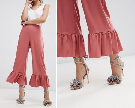 Pantalones Asos Bajos Volantes