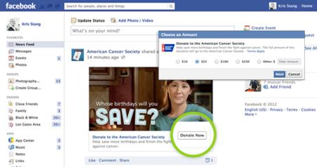 Facebook estrena un botón para que dones dinero desde la misma página de noticias