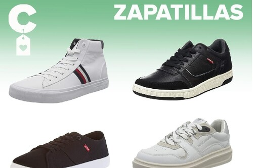 Chollos en tallas sueltas de  zapatillas Tommy Hilfiger, Levi's o Pepe Jeans en Amazon