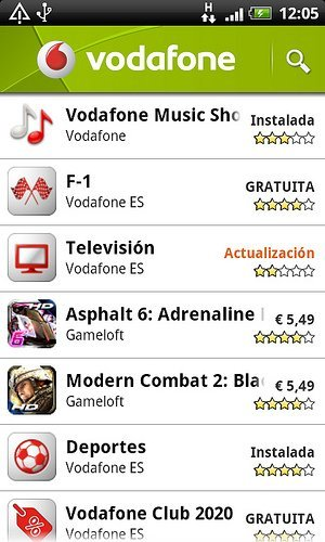 Vodafone Android Market