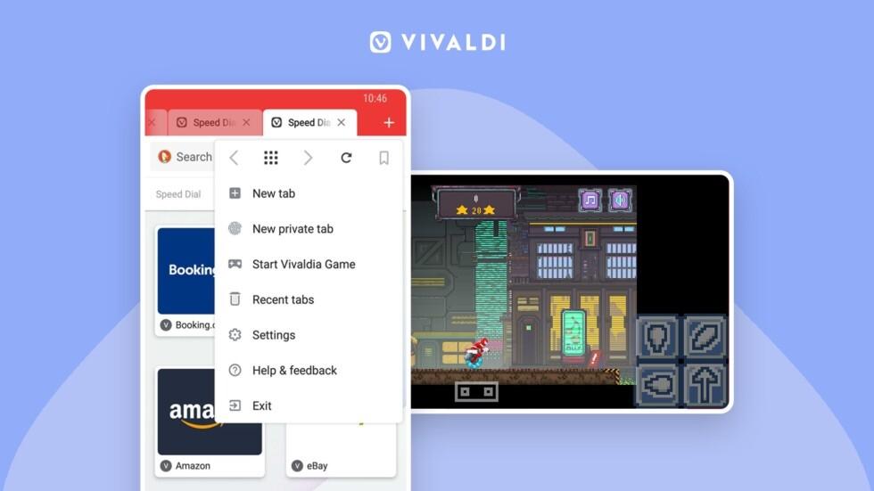 Vivaldi en Android-OS se actualiza: mejorías gráficas y un juego integrado para aprovechar inclusive carente conexión