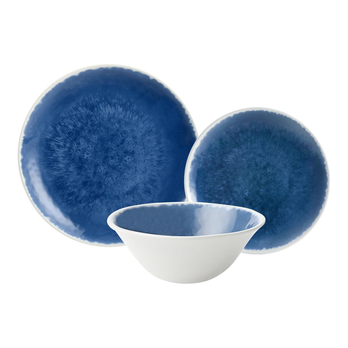 Vajilla en melamina en azul