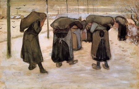 Vincent van gogh Women Miners Carrying Coal 1881-1882