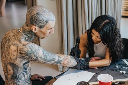 Kourtney Kardashian Travis Barker Tattoo 02