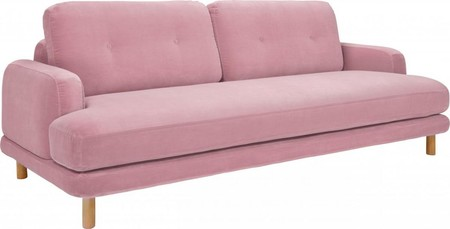 Land 3st Sofa Velvet Pink Oak 813415 2 908899