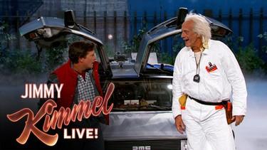Y Marty McFly llegó al futuro justo a tiempo de visitar a Jimmy Kimmel