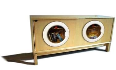 Recicladecoración: muebles con puertas de lavadora