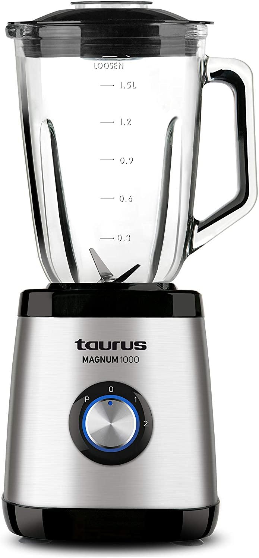Taurus Optima Magnum Batidora de vaso, 1000 W, 1.5 L, acero inoxidable [Clase de eficiencia energética A++]