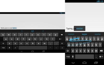 El teclado por defecto de Android, disponible en Google Play