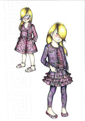 Foto de Young Versace, bocetos de diseño para los más pequeños (1/4)