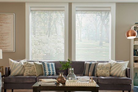 Livrm Blinds S19 White Tilt Partial Open