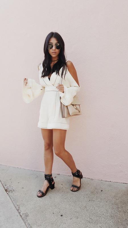 Mono Jumpsuit Blanco Prenda Verano 2016 3