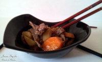 Nikujyaga o estofado de patatas con carne. Receta japonesa
