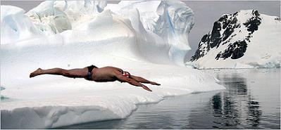 Nadando bajo cero