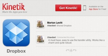 Kinetik toma como base las aplicaciones y convierte la App Store en una red social
