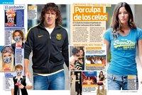 Puyol y Malena Costa... por una cuestión de celos