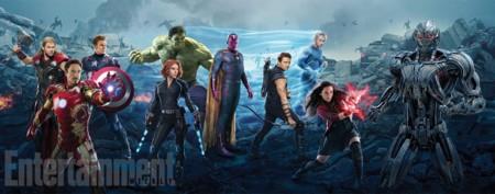 Banner con los protagonistas de Vengadores 2