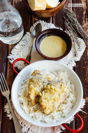 Muslos de pollo en salsa de mostaza. Receta