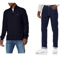 Chollos en tallas sueltas de pantalones, suéteres y chaquetas para hombre de marcas como Levi's, Napapijri o Superdry en Amazon