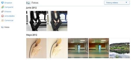Galería cronológica de fotos en Dropbox
