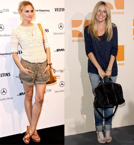 Diane Kruger y Sienna Miller en la Semana de la Moda en Berlín Primavera-Verano 2010