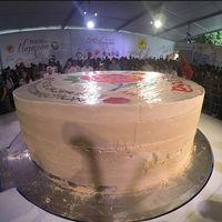 El Mazapán más grande del mundo pesa ocho toneladas y lo acaban de hacer en México