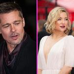 Brad Pitt que sale con Kate Hudson y Marc Anthony in love con una jovenzuela