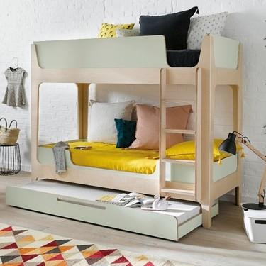 Camas para tres o cama nido + litera para aprovechar al máximo el espacio