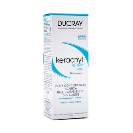 Keracnyl Repair de Ducray para pieles grasas. Probamos la crema en una piel adolescente