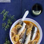 Escabeche de sardinas. Receta fácil de picoteo