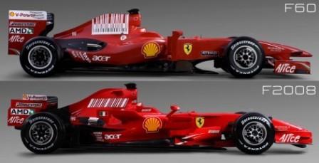 Ferarri F60 vs F2008