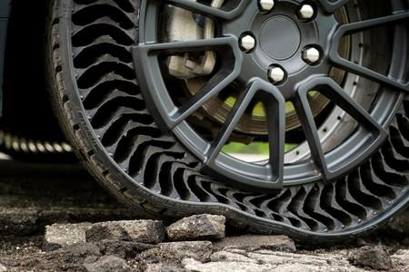 Neumático sin aire de General Motors y Michelin