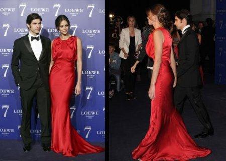 Detalle vestido rojo de Eva González