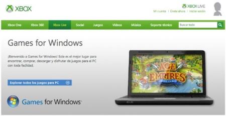 Microsoft anuncia el cierre de la tienda online Games for Windows Live