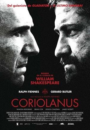 Imagen con el cartel de 'Coriolanus'