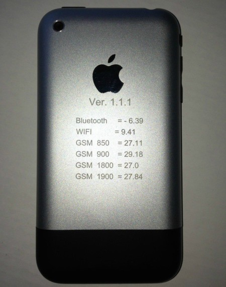 Prototipo de iPhone con intensidades de señal