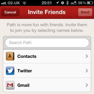"""Facebook bloquea la función """"buscar amigos"""" de Path"""