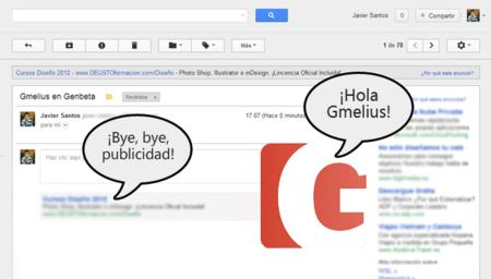 Gmelius, complemento para eliminar la publicidad de Gmail