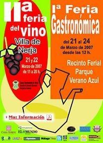 II Feria del Vino Villa de Nerja y I Feria Gastronómica de Nerja