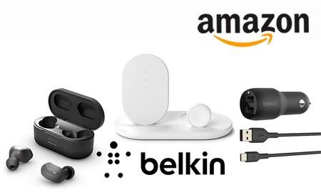 Ofertas en soluciones de carga y sonido Belkin: hasta la medianoche, Amazon te ofrece los mejores precios en auriculares true wireless, cables, conectores o bases inalámbricas
