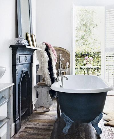Baño de estilo victoriano