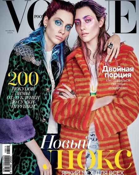 Vogue Rusia: Lia Pavlova y Odette Pavlova