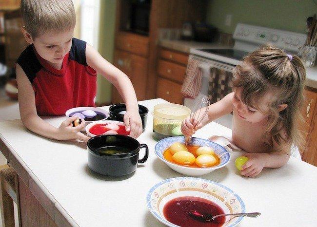 cocinando niños