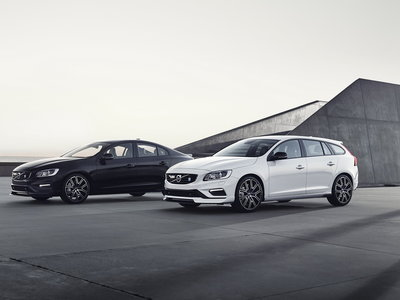 Los Volvo S60 y V60 Polestar 2018 reciben un baño de fibra de carbono