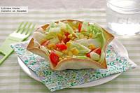 Cómo hacer cuencos comestibles para tus ensaladas