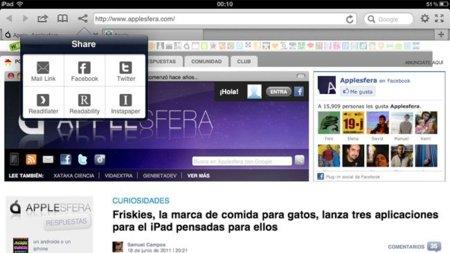 Terra, un navegador muy completo para el iPad que ahora mejora su integración con Twitter y Facebook