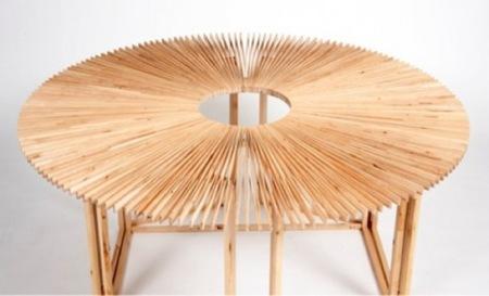 mesa abanico