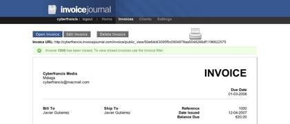 Invoice Journal, gestionando las facturas a través de la web
